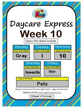 Daycare Curriculum (Week 10) Letter I, Shape Star, Color G