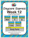 Daycare Curriculum (Week 12)  Letter T, Shape Square, Colo