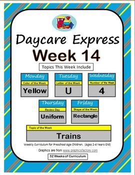Daycare Curriculum (Week 14) Letter U, Shape Rectangle, Co