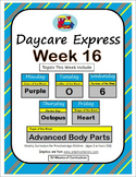 Daycare Curriculum (Week 16) Letter O, Shape Heart, Color Purple, Number 6