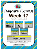 Daycare Curriculum (Week 17) Letter C, Shape Octagon, Color Black, Number 7