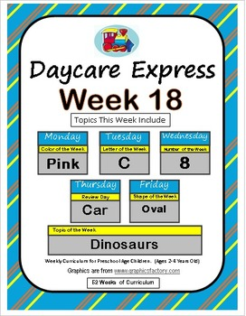 Daycare Curriculum (Week 18) Letter C, Shape Oval, Color P