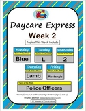 Daycare Curriculum (Week 2) Letter L, Shape Rectangle, Color Blue, Number 2