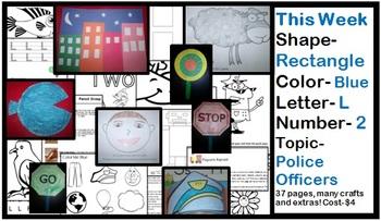 Daycare Curriculum (Week 2) Letter L, Shape Rectangle, Color Blue, Number 2