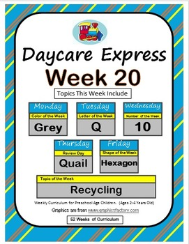 Daycare Curriculum (Week 20) Letter Q, Shape Hexagon, Colo