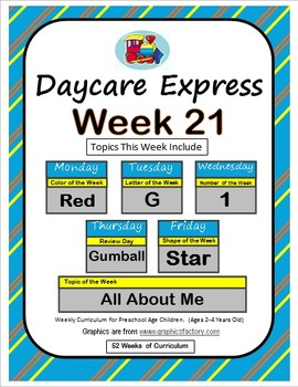 Daycare Curriculum (Week 21) Letter G, Shape Star, Color R