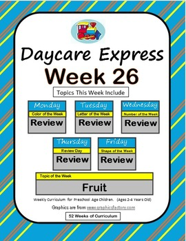 Daycare Curriculum (Week 26) Review Week, All Letters, Shapes, Colors, Numbers