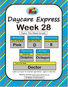 Daycare Curriculum (Week 28) Letter D, Shape Octagon, Colo