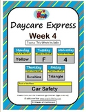 Daycare Curriculum (Week 4) Letter F, Shape Triangle, Color Yellow, Number 4