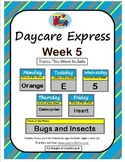 Daycare Curriculum (Week 5) Letter E, Shape Heart, Color O