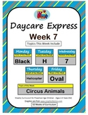 Daycare Curriculum (Week 7) Letter H, Shape Oval, Color Bl