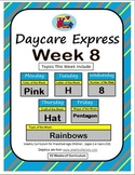 Daycare Curriculum (Week 8) Letter H, Shape Pentagon, Color Pink, Number 8