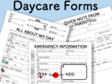 Daycare Daily Report Form/ Emergency Contact Form/ Daycare Starter Kit Printable