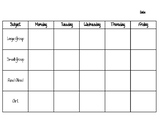 Daycare Lesson Plan Template | Core Four