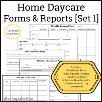 Daycare Provider Forms
