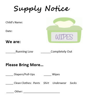 Daycare Supply Request