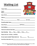 Daycare Waiting List Form