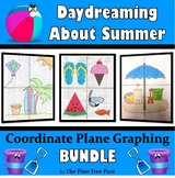 Daydreaming About Summer Coordinate Plane Graphing BUNDLE