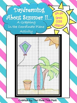 Daydreaming About Summer II [A Coordinate Plane Graphing Activity]