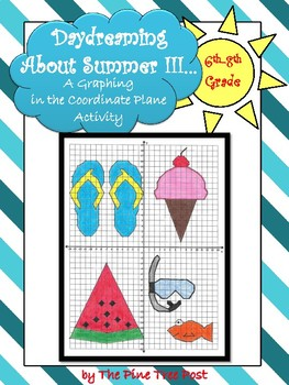 Daydreaming About Summer III [A Coordinate Plane Graphing Activity]