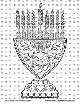 Chanukah Coloring Pages: Daydreams And Doodles