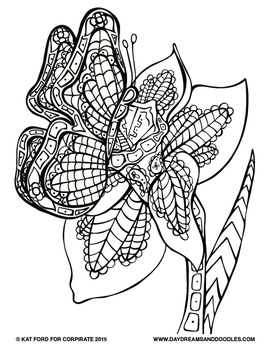 Spring Coloring Pages: Daydreams And Doodles