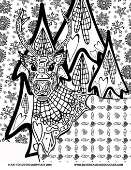 Winter Coloring Pages: Daydreams And Doodles