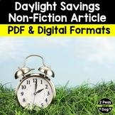 Daylight Saving Non-Fiction Article