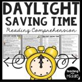 Daylight Saving Time History Reading Comprehension Worksheet, Spring