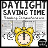 Daylight Saving Time History Reading Comprehension Worksheet, Spring, Fall
