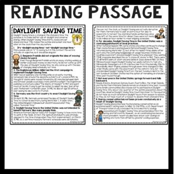 daylight saving time history reading comprehension. Black Bedroom Furniture Sets. Home Design Ideas