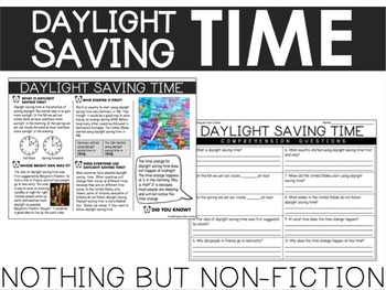 Daylight Saving Time Reading Passage