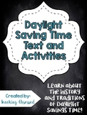 Daylight Saving Time Text + *Activities* (Upper Elementary)