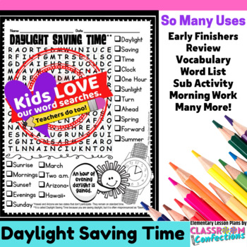 Daylight Saving Time: Word Search