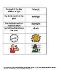 Daylight Saving (Spring) Vocabulary & Comprehension; Special Ed: Boardmaker