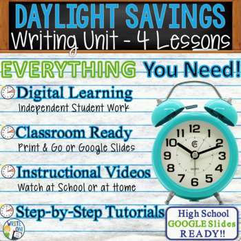 Daylight Savings Writing BUNDLE! - Argument, Persuasive, Expository, Narrative