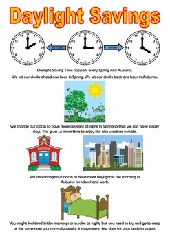 Daylight Savings Social Story