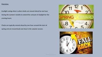 Daylight Savings Time - Power Point - History All the facts information pictures
