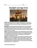 Daylight Savings Time - Review Article complete history facts questions vocab