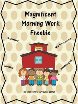 Days 1-5 Morning Work Freebie