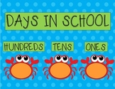 Days In School Chart- Ocean Theme