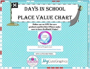 Days In School Chart- Pirate Theme