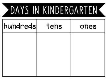 Days In School Chart. Pre-K - 5th Grade