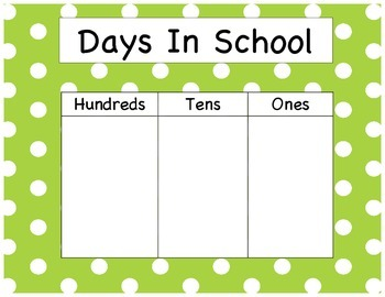 Days In School - Polka Dots (GREEN)