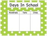 Days In School - Polka Dots (GREEN)