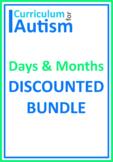 Days Months Calendar Skills BUNDLE Autism Special Education