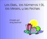 Days, Months, Numbers and Dates Spanish SMART Board lesson