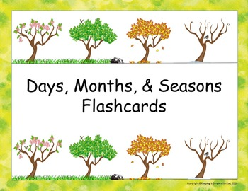 Days, Months, Seasons Flashcards