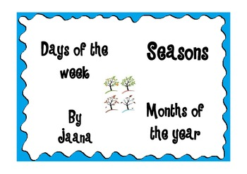 Days, Months & Seasons Read and Write the Room