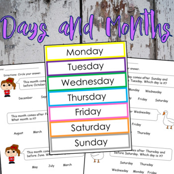 days months worksheets flashcards english spanish by dressed in sheets. Black Bedroom Furniture Sets. Home Design Ideas